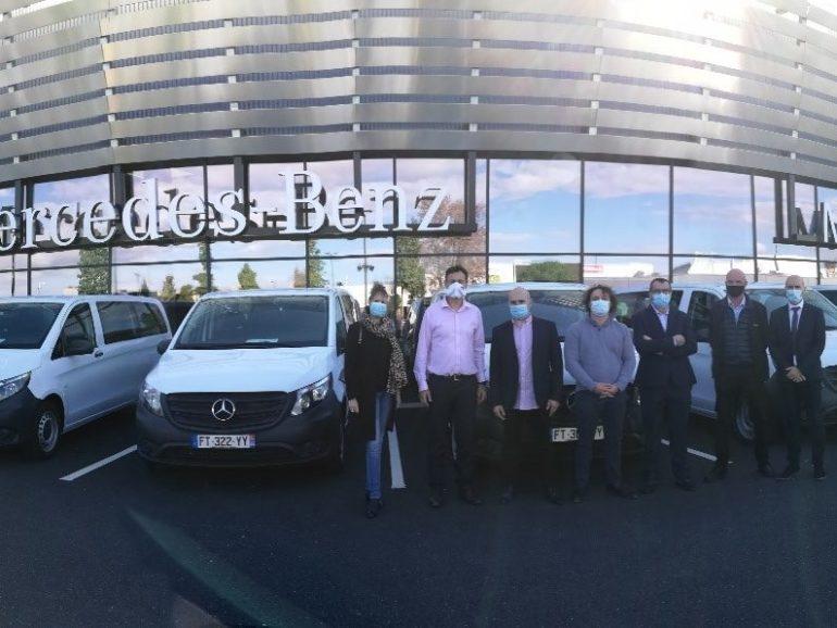 Livraison d'une flotte de 10 Vito aménagés pour la société Autocars Vaills Asperi
